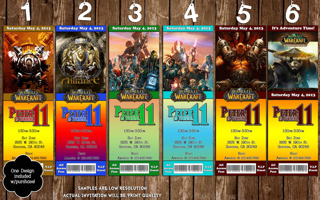 Novel Concept Designs - World of Warcraft Video Game Ticket ...