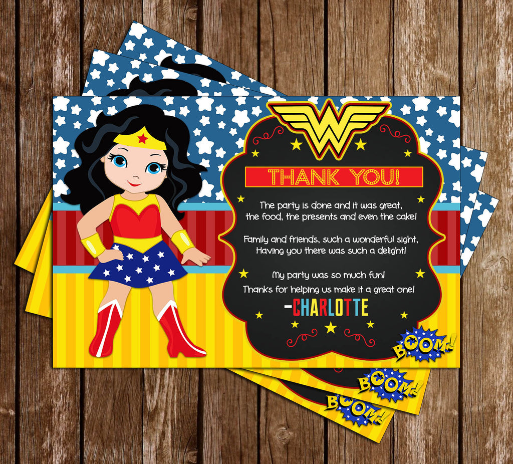 Novel Concept Designs Wonder Woman Superhero Birthday Party