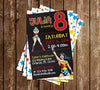 Wonder Woman - Comic Book - Birthday Party Invitation
