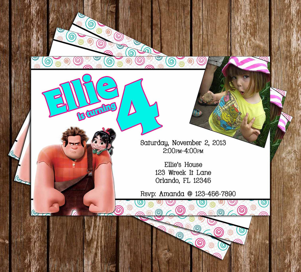 Wreck It Ralph Birthday Invitation