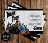 X Men Birthday Ticket Invitations