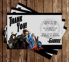 X Men Movie Birthday Thank You Card