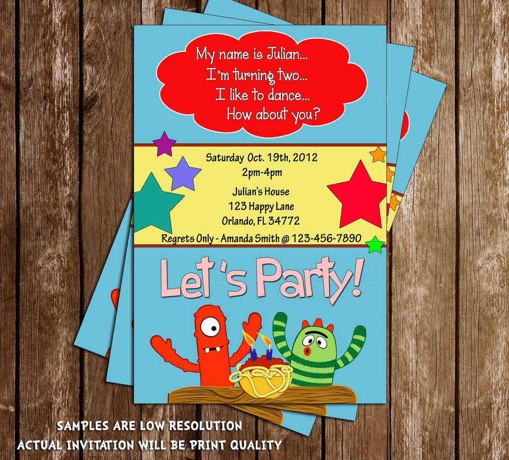 Yo Gabba Gabba Birthday Invitation (2nd Birthday)