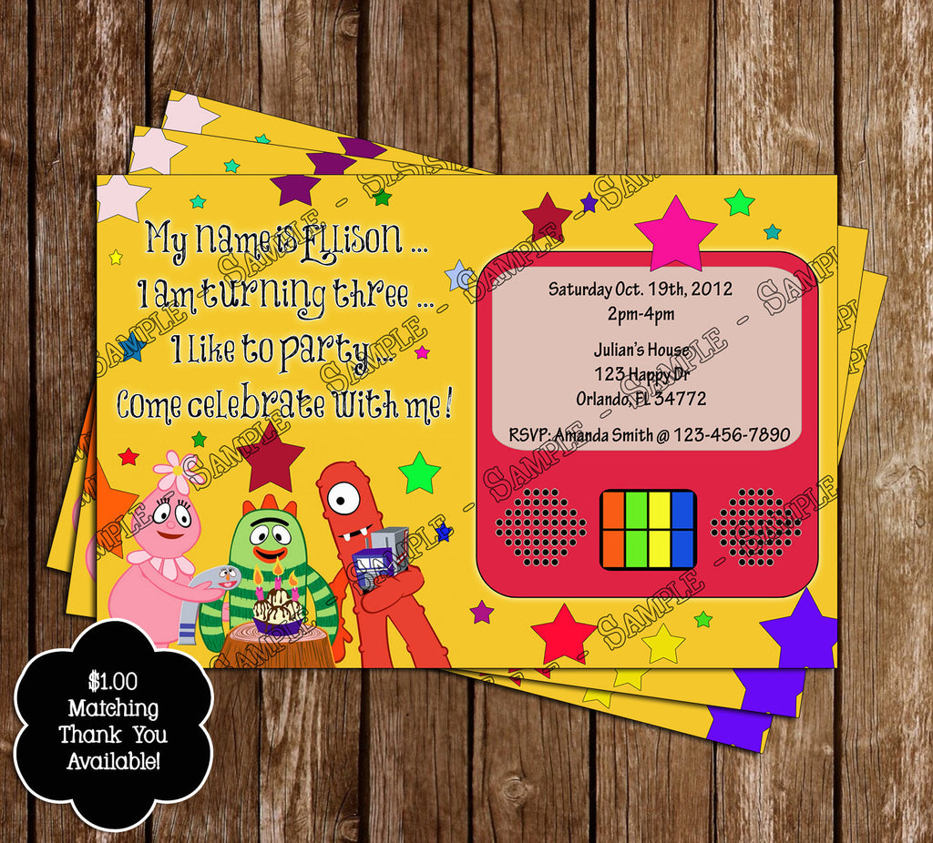 Novel Concept Designs Yo Gabba Gabba Birthday Thank You Card