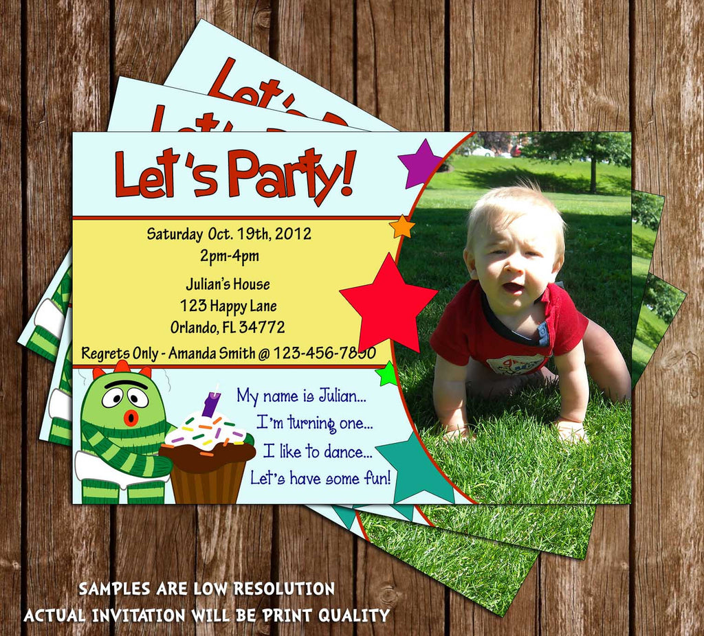 Yo Gabba Gabba Birthday Invitation (Photo)
