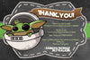 Star Wars - Baby Yoda - Baby Shower - Thank You Card