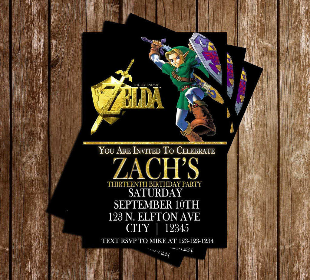 Novel concept designs legend of zelda gamer birthday party legend of zelda gamer birthday party invitations stopboris Gallery