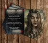 Walking Dead Zombie Birthday Thank You Card