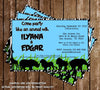 Zoo - Safari Birthday Party Invitation Printable
