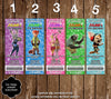 Disney Zootopia Movie Character Birthday Party Ticket Invitations