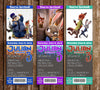 Disney Zootopia Movie Birthday Party Ticket Invitations