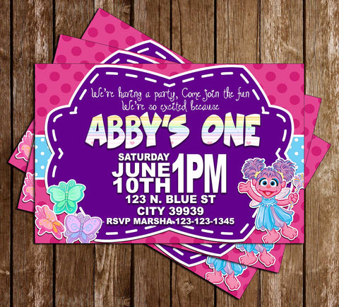 Abby Cadabby - Sesame Street  - Birthday Party - Invitation