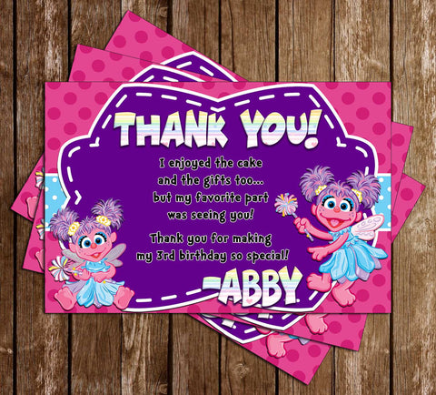 Abby Cadabby - Sesame Street - Birthday Party - Thank You Card