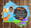 Dinosaur Birthday Party Thank You Cards