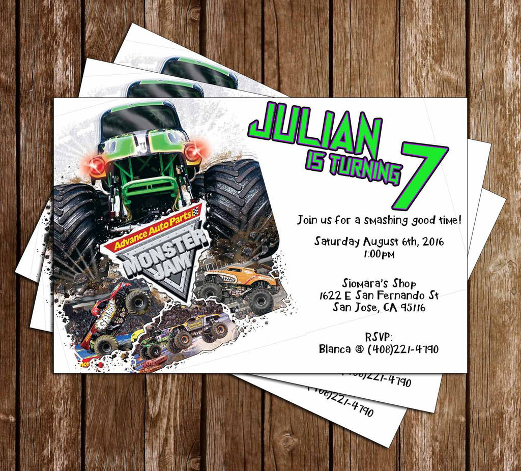 novel concept designs monster jam monster truck birthday party