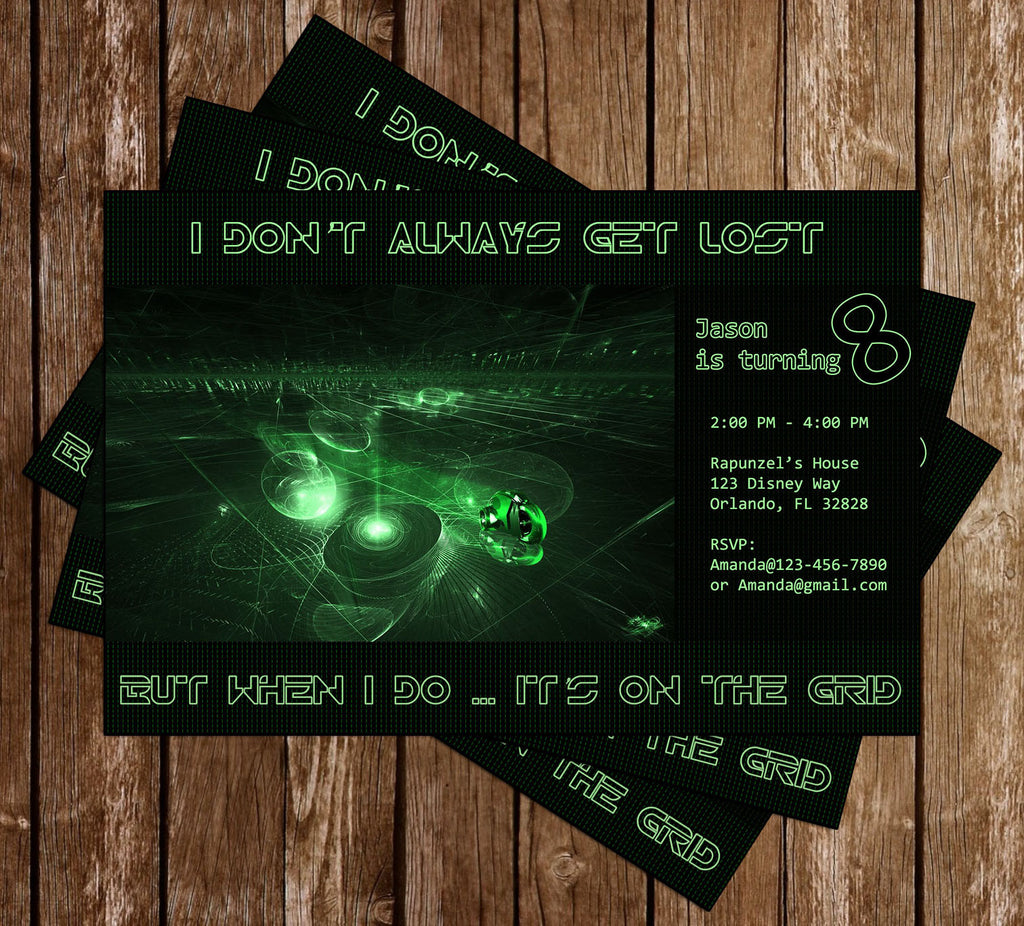 Disney Tron Birthday Party Invitation Memevitation