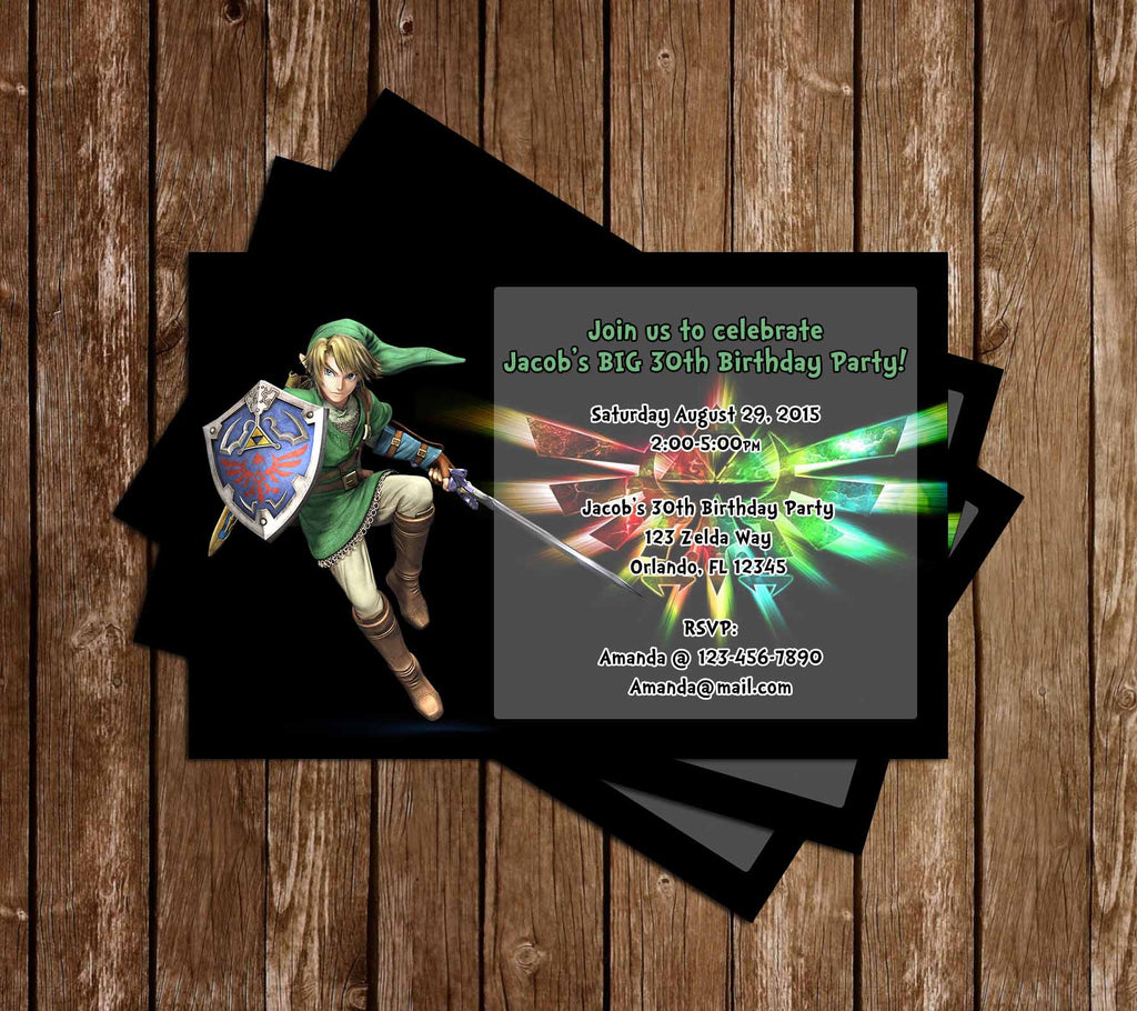 Novel concept designs legend of zelda birthday party invitations legend of zelda birthday party invitations stopboris Gallery