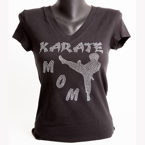 Karate Mom Bling Shirt