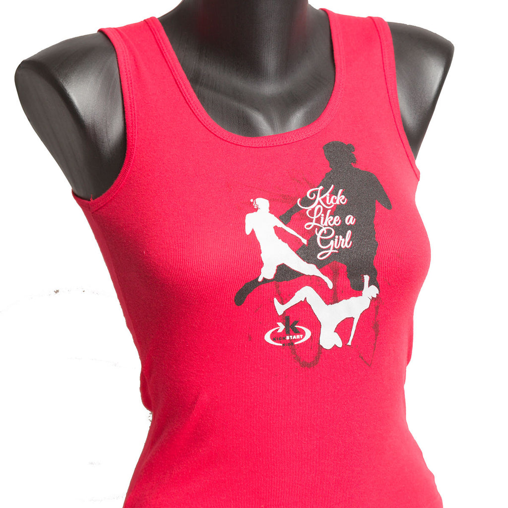 """Kick Like a Girl"" Women's Tank Top"
