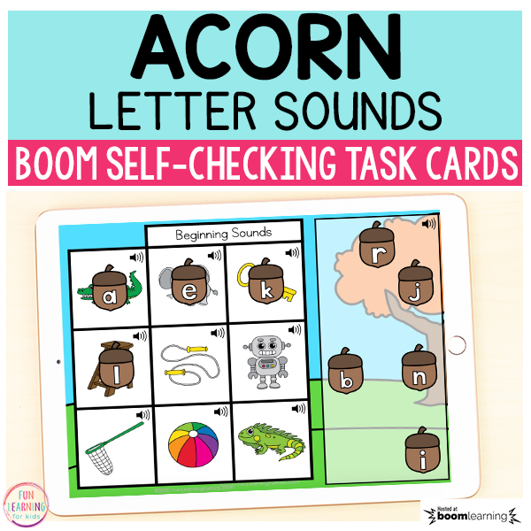 Acorn Letter Sounds Matching Boom Cards™ | Digital Task Cards