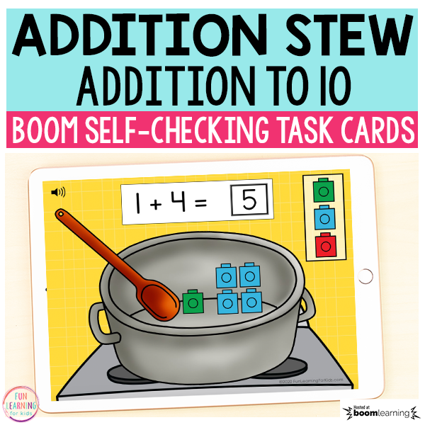 Addition Stew Boom Cards™ | Digital Task Cards
