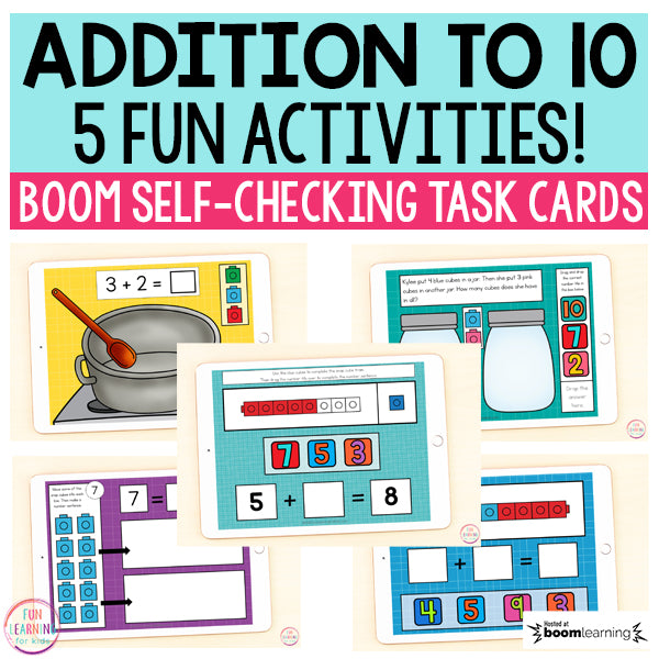 Addition to 10 Boom Cards™ Bundle | 5 packs | Digital Task Cards