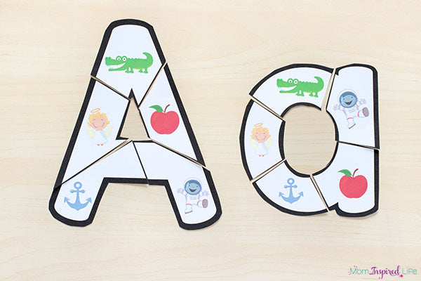 photograph about Alphabet Puzzle Printable titled Alphabet Things to do Mega Package deal