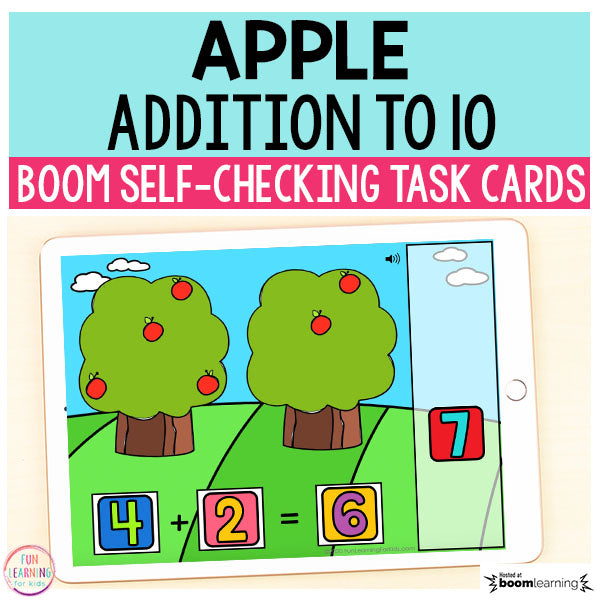 Apple Addition to 10 Boom Cards™ | Digital Task Cards