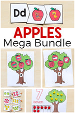 Apple Activities Mega Bundle – Math and Literacy