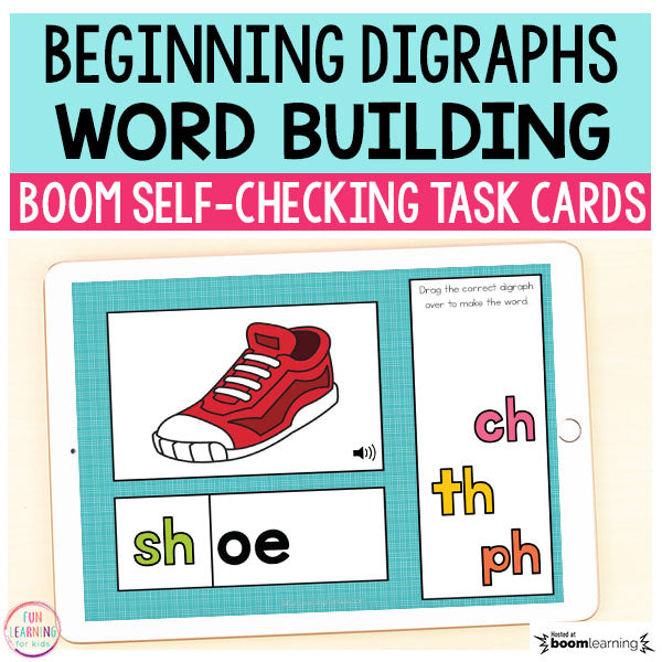 Beginning Digraphs Word Building Boom Cards™ | Digital Task Cards