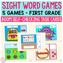 Sight Word Games | 5 Activities - First Grade | Boom Cards™