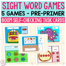 Sight Word Games | 5 Activities - Pre-Primer | Boom Cards™