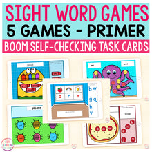Sight Word Games | 5 Activities - Primer | Boom Cards™