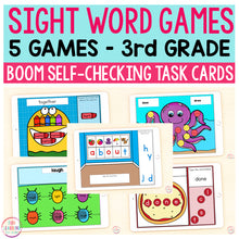 Sight Word Games | 5 Activities - Third Grade | Boom Cards™
