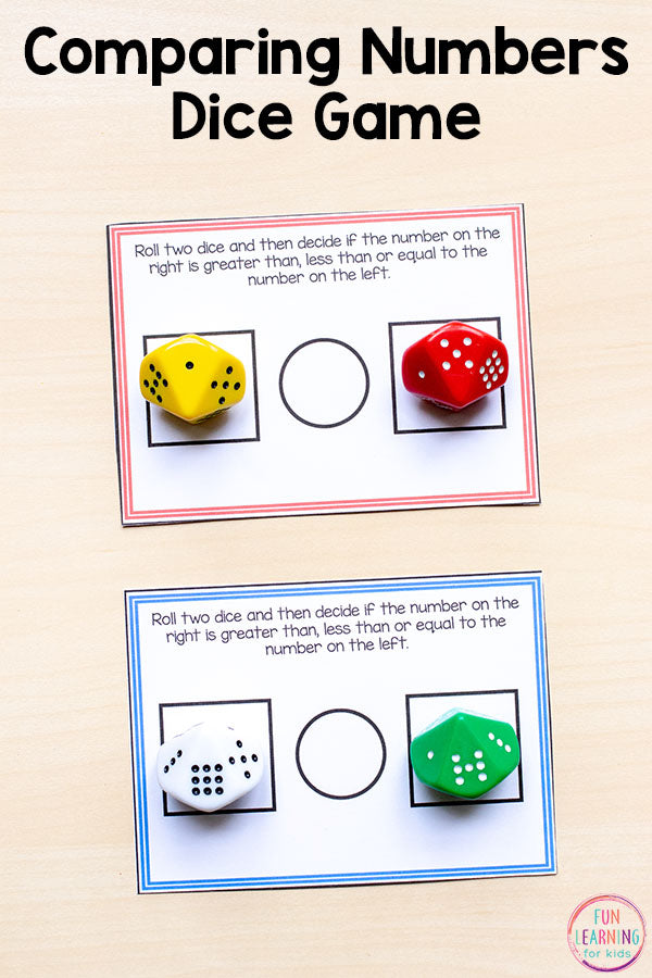 Comparing Numbers Math Pack for Kindergarten Math Centers