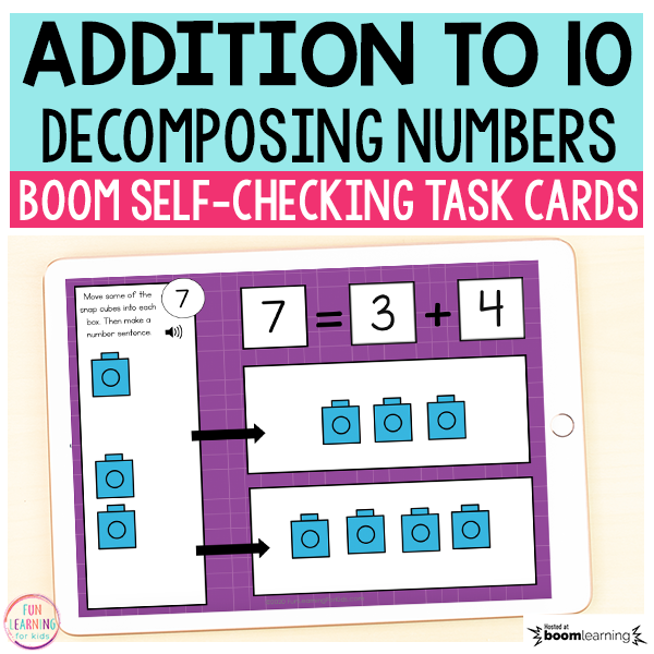 Decomposing Numbers to 10 Boom Cards™ | Digital Task Cards