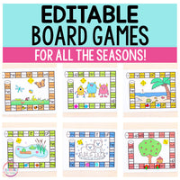 Editable Board Games for Every Season