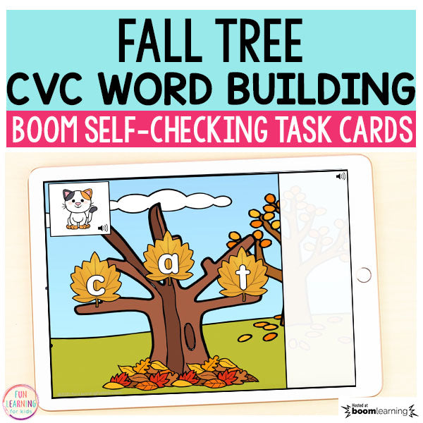 Fall Tree CVC Word Building Boom Cards™ | Digital Task Cards
