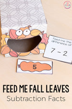 Fall Leaves Feed Me Math and Literacy Activities