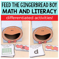 Gingerbread Feed Me Math and Literacy Activities