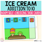 Ice Cream Addition Activity Boom Cards™ | Digital Task Cards