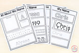 Editable Name Writing Practice Activities