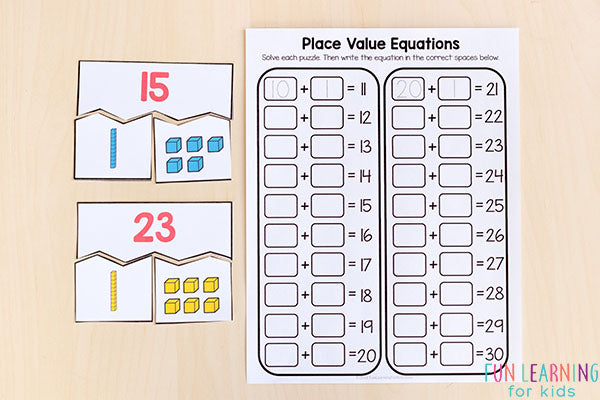 Printable Number Sense Activities