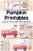 Pumpkin Activities Printable Bundle