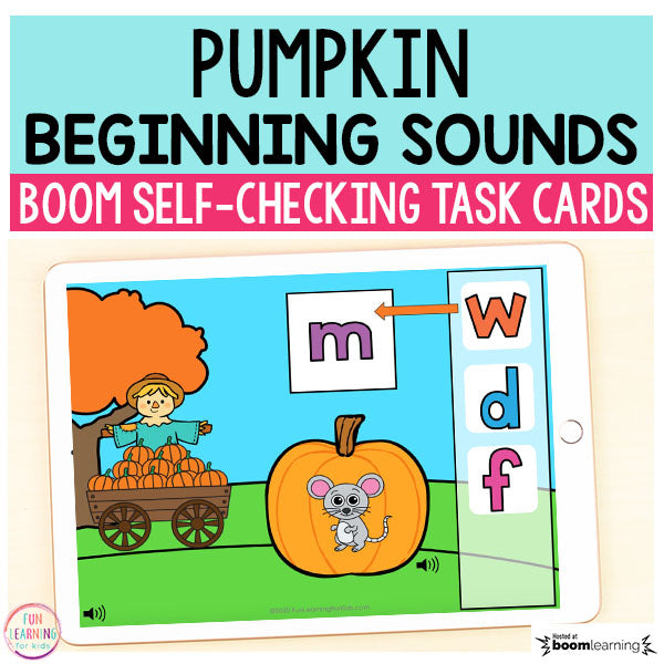 Pumpkin Beginning Sounds Boom Cards™ | Digital Task Cards