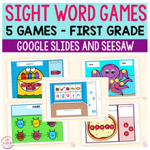 Sight Word Games | 5 Activities - First Grade | Google Slides and Seesaw