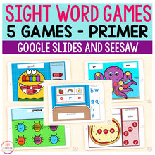 Sight Word Games | 5 Activities - Primer | Google Slides and Seesaw