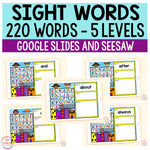 Superhero Sight Words Bundle | 220 Sight Words | Google Slides and Seesaw