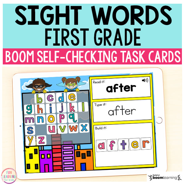 Superhero Sight Words First Grade Boom Cards™ | Digital Task Cards