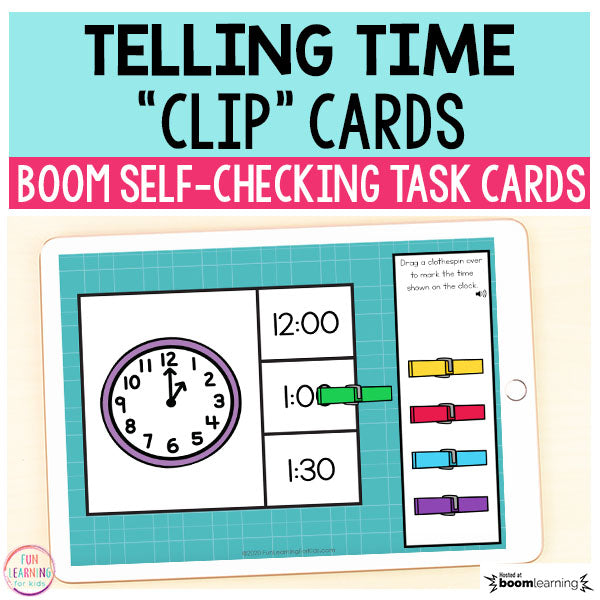 Telling Time Boom Cards™ | Digital Task Cards